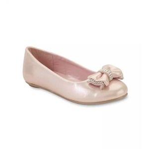 Laura Ashley Rhinestone Slip On Dress Ballet Flat
